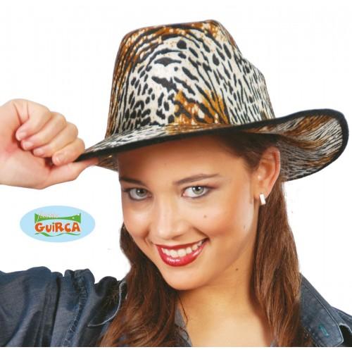 $ SOMBRERO COW-BOY TERCIOPELO TIGRE