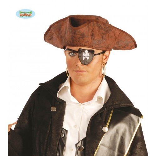 SOMBRERO PIRATA FIELTRO MARRON