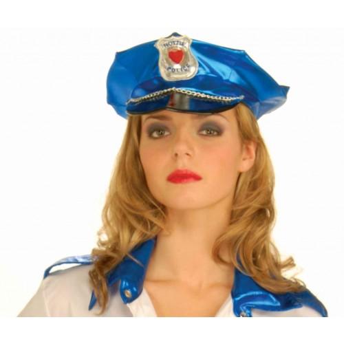 GORRA STRASS POLICIA SEXY AZUL