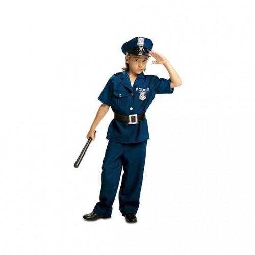 DISFRAZ 3A4AÑOS POLICIA AZUL