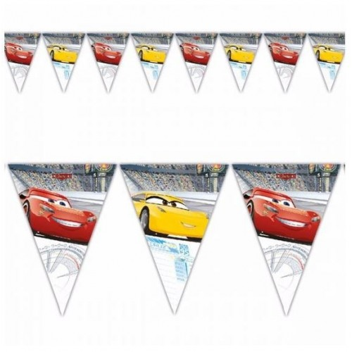 BANDERIN TRIANGULO CARS 3 2,3MT