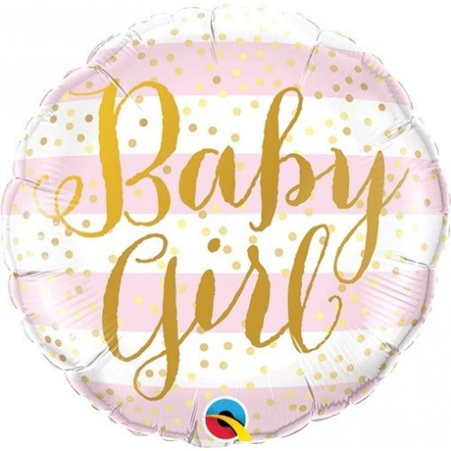 "GLOBO 9"" PALO FOIL BABY GIRL OROROSA"