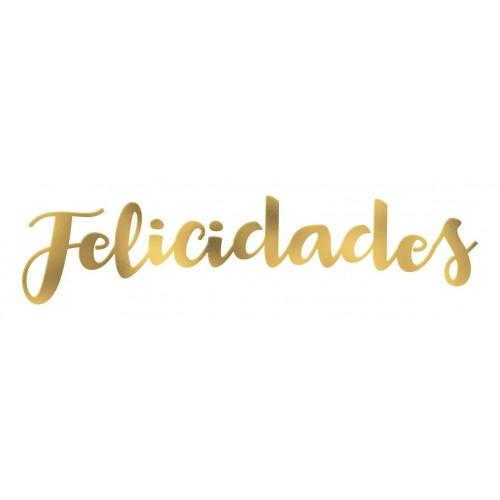 GUIRNALDA FELICIDADES METAL COL.SURT