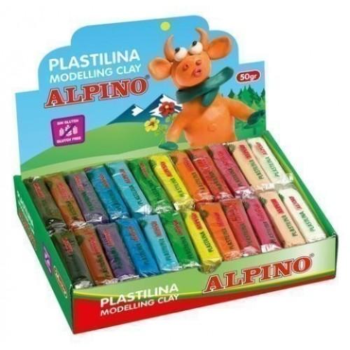 CAJA 24 PLASTILINA 50GR ALPINO