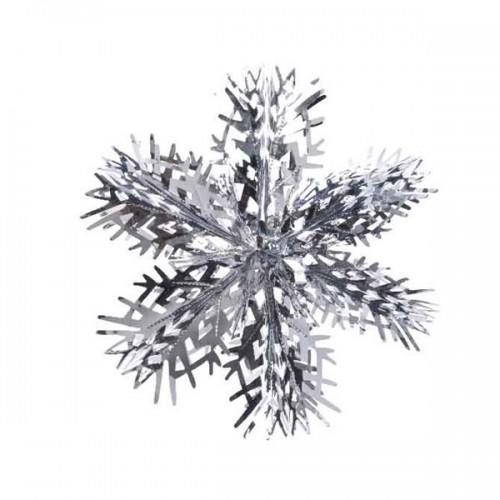 COLGANTE SNOWFLAKE PLATA 39CM