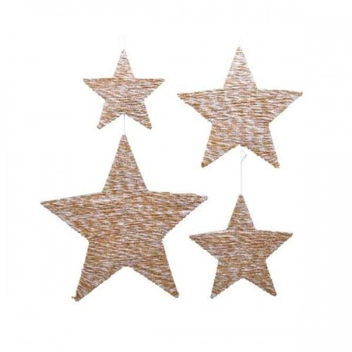 COLGANTE ESTRELLA COLOR NATURAL 30CM