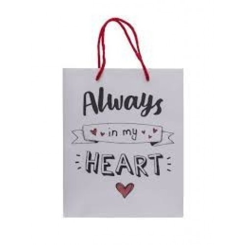 BOLSA REGALO ALWAYS IN MY HEART 18X8X23C