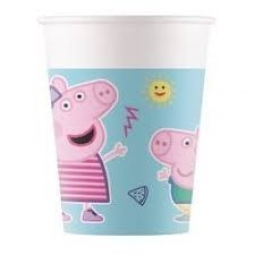 8 VASO COMPOSTABLE PEPPA PIG 200