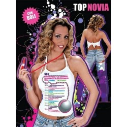 CAMISETA NOVIA TOP PRUEBA C/BOLIGRAFO