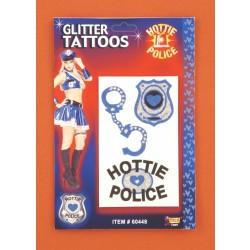 BLISTER 3/U TATUAJE POLICIA GLITTER