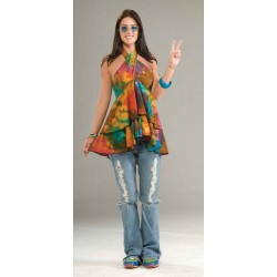 CAMISA T-UNICA TOP HIPPIE AÑOS 60