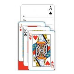 PAQ.8/U INVITACION C/SOBRE CARTAS POKER