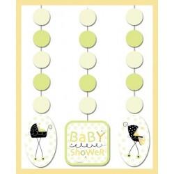 PAQ.3/U TIRA  BABY SHOWER CUNA NEGRA
