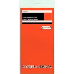 MANTEL PLASTICO NARANJA 137X274CM