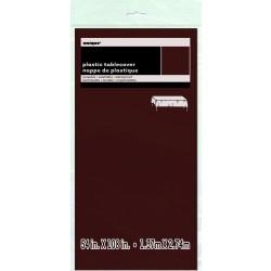 MANTEL PLASTICO MARRON 137X274CMS
