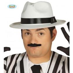 SOMBRERO REY DEL POP BLANCO CINTA NEGRA