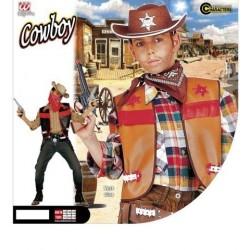 CHALECO INF 8A10AÑOS SHERIFF VAQUERO