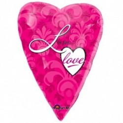 GLOBO 18 CORAZON FUCSIA LIS FOR LOVE
