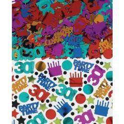 PAQ.CONFETI METAL 30 TOPO BIRTHDAY