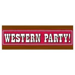 CARTEL GDE WESTERN PARTY 152,4X50,8CM