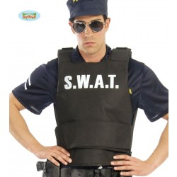 CHALECO ADULTO NEGRO SWAT POLICIA
