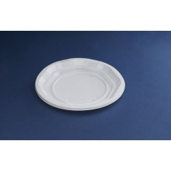 PAQ.100/U PLATO 16,5CM BLANCO PLASTICO