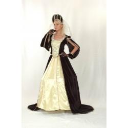Disfraz medieval mujer blanco