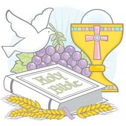 SILUETA BIBLIA CALIZ PALOMA COMUNION