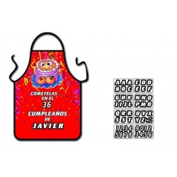 DELANTAL CUMPLEAÑO TARTA TETAS