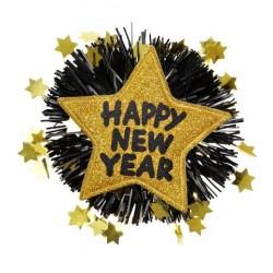 BROCHE ESTRELLA HAPPY NEW YEAR ORO