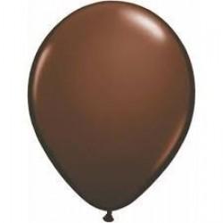 "100 GLOBOS 5"" LATEX  MARRON CHOCOLATE"