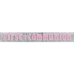 GUIRNALDA FLECO FIRST COMMUNION ROSA 3MT