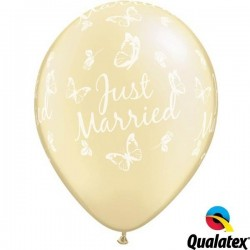 "PAQ.25/U GLOBO 11"" MARFIL JUST MARRIED"