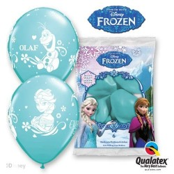 "6 GLOBOS 12"" LATEX FROZEN AZUL"