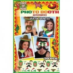 KIT 6 PIEZAS PHOTO CALL FIESTA MEXICO
