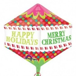 "GLOBO 21"" FOIL  ANGULAR MERRY CHRISTMAS"