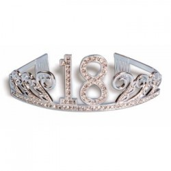 TIARA DELUXE STRASS PLATA N18
