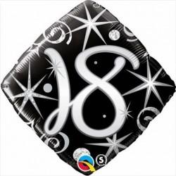 """GLOBO 18"""" FOIL ROMBO NEGRO N18"""