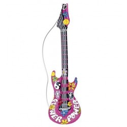 GUITARRA INFLABLE POWER FLOWER ROSA