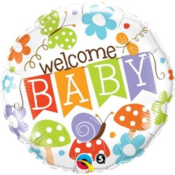 "$ GLOBO 18"" FOIL REDONDO WELCOME BABY"