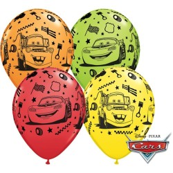 "25 GLOBOS 11"" LATEX CARS/MATER COL.SUR."