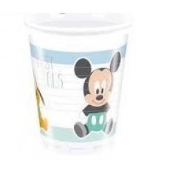 8 VASOS PL MICKEY BABY 200ML