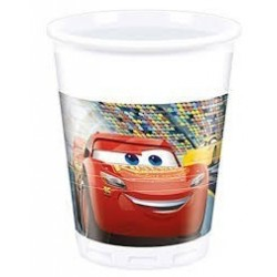 =  8 VASOS PL CARS 3 200ML