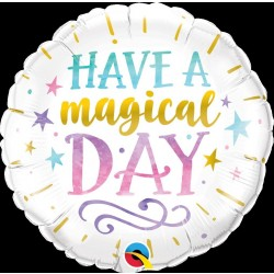 """GLOBO 18"""" FOIL RND HAVE A MAGICAL DAY"""
