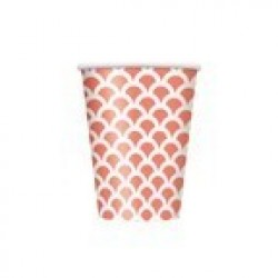 PAQ.6/U VASO ESCAMA CORAL 355ML