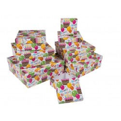 CAJA REGALO H.BIRTHDAY 22,5X22,5X8CM