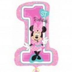 "GLOBO 28"" FOIL 1ST BITHDAY MINNIE"