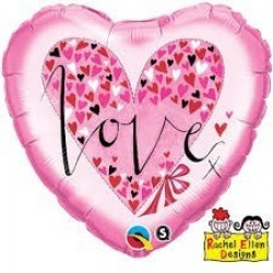 """$ GLOBO 18"""" FOIL CORAZON LOVE LITTE"""