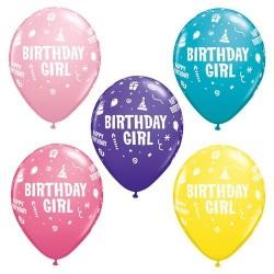 "PAQ.25/U GLOBO 11"" BIRTHDAY GIRL"