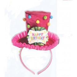 DIADEMA MINI SOMBRERO HAPPY BIRTHDAY